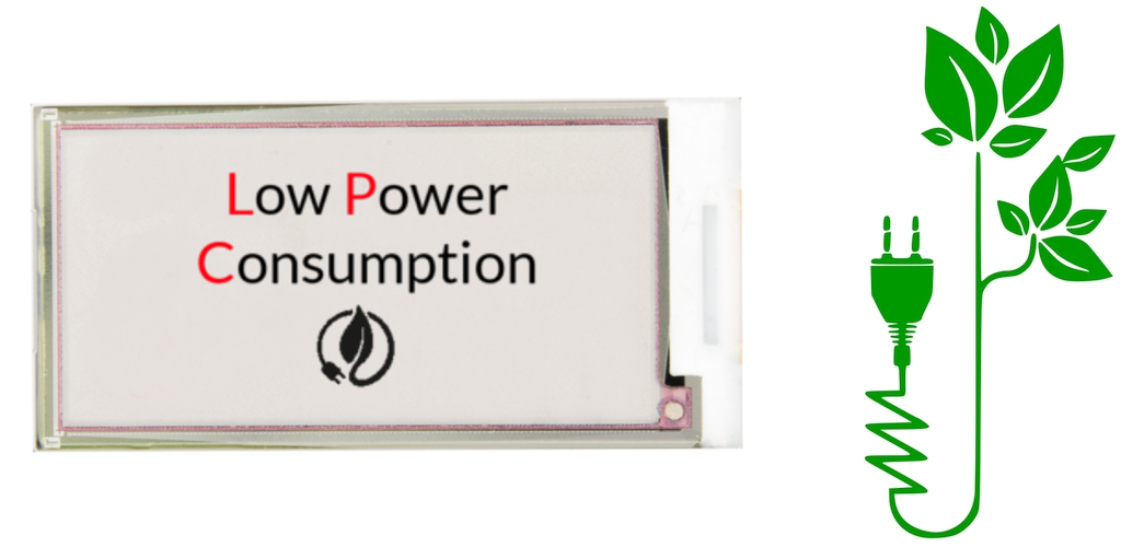 Ultra low power consumption EPD